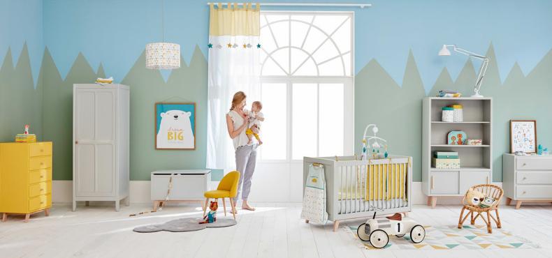 chambre-bébé-coloré-jaune-bleu-vert-maisons-du-monde ...