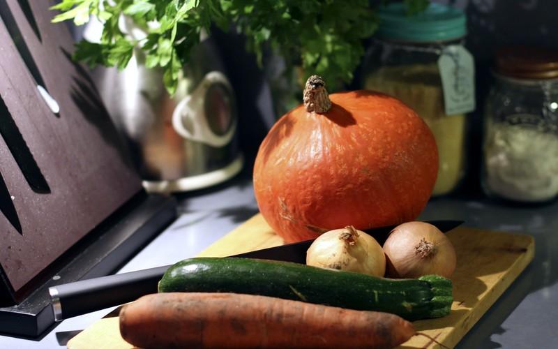 Recette de soupe au potimarron sans lactose - vegan ©aunomi