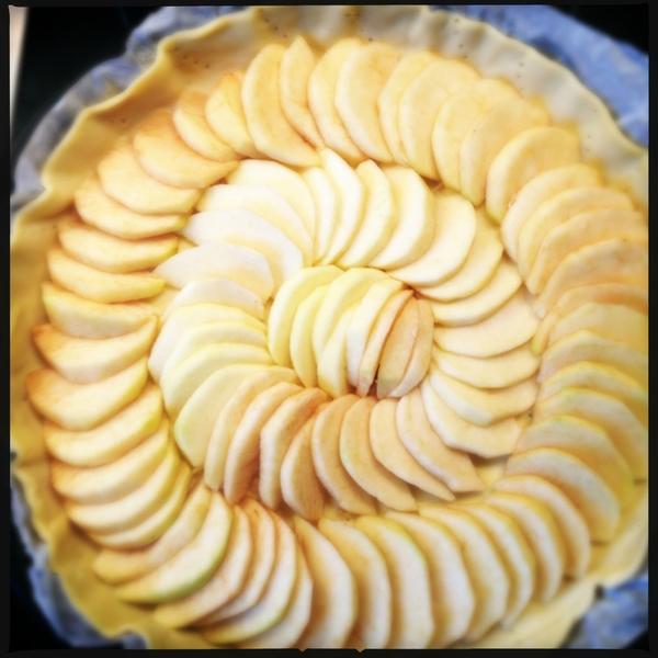 Recette facile : tarte fine aux pommes ©aunomi
