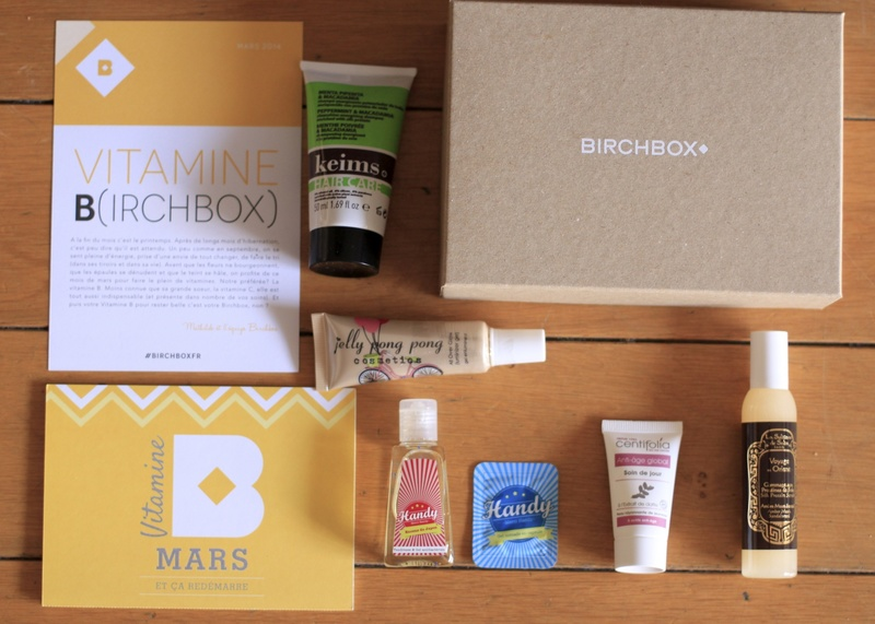 box beauté Vitamine Birchbox mars 2014 ©aunomi