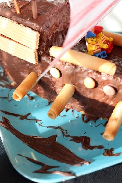Gateau bateau pirate anniversaire 5 ans