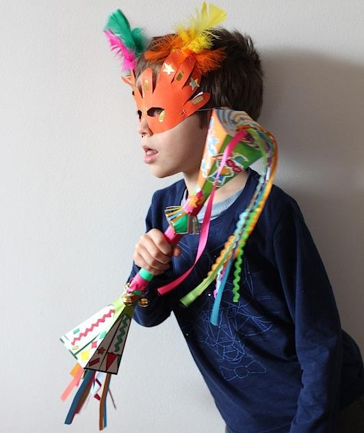 Activité pour enfant : le kit créatif Pandacraft. Thème du mois de février : Carnaval ©aunomi