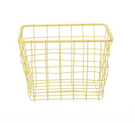 Panier grillage jaune taille s Present Time idéal pour chambre d'enfant