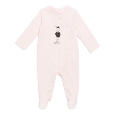 Pyjama grenouillère rose tendre Yumicha pour Natalys
