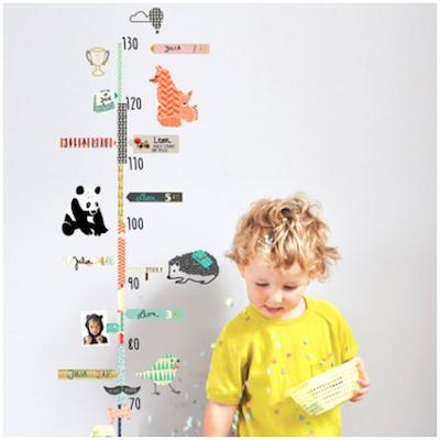 Sticker toise pour enfant Mimilou