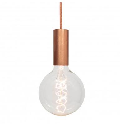 Lampe suspension douille cuivre