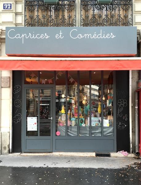 Boutique à Paris Caprices et Comédies ©aunomi
